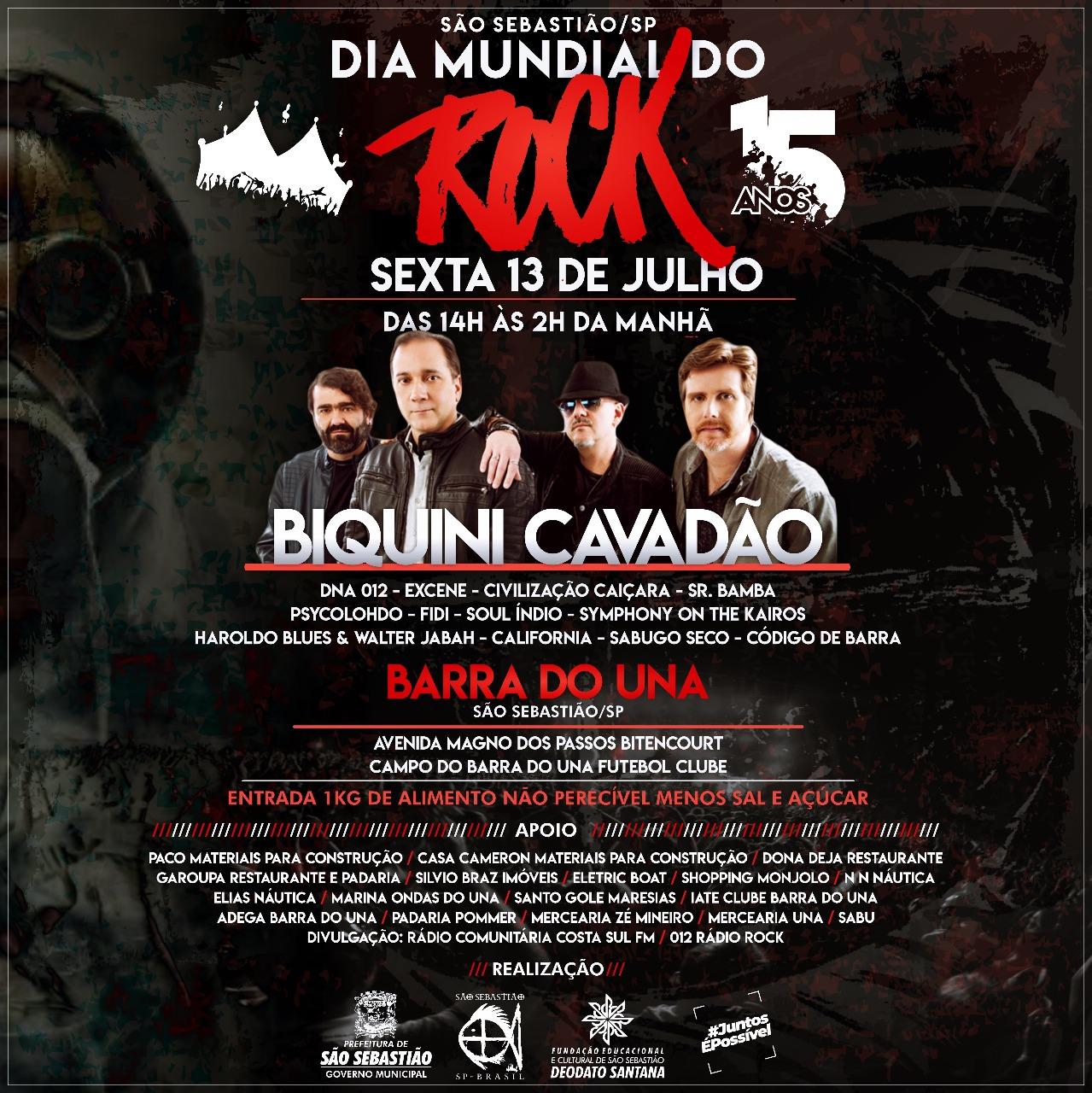 O rock and roll também vai rolar para comemorar o dia mundial do rock df17d50599600